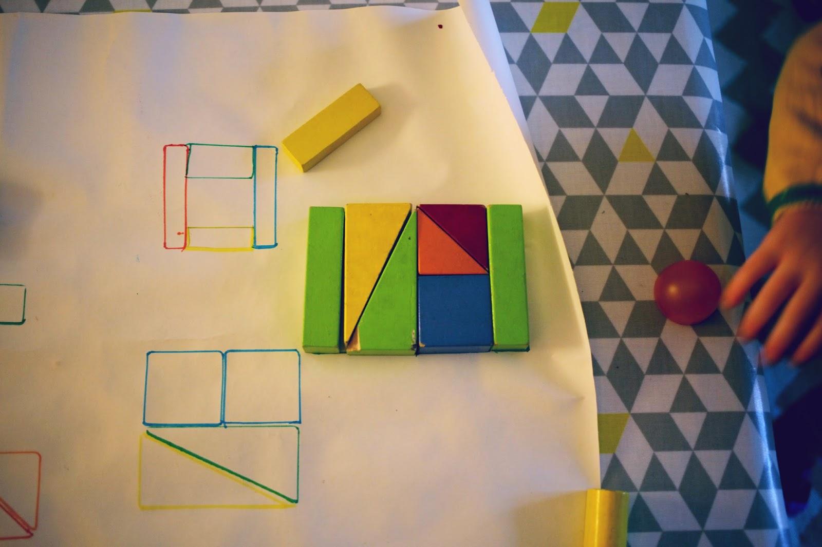 montessori at home matching patterns and blocks