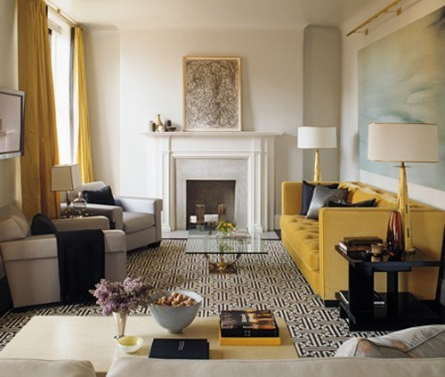 Glitz bliss color inspiration mustard yellow marigold Mustard living room ideas