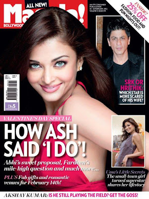 Gorgeous Aishwarya Rai Bachchan On The Cover Of Masala Magazine's Valentine Edition