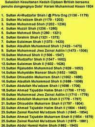 Salasilah Kerabat Diraja Kedah