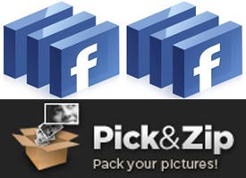 Download Photos Facebook with PickNZip