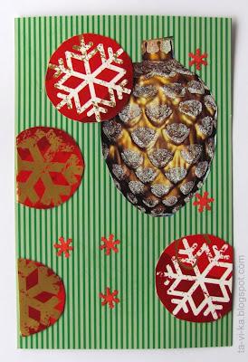новогодние открытки - NY card handmade