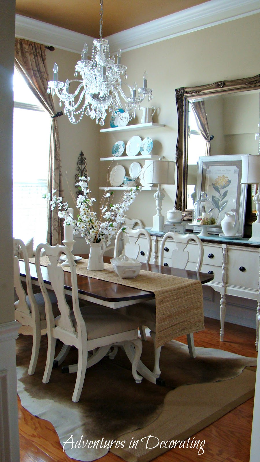 adventures in decorating shared her dining room love it and love all