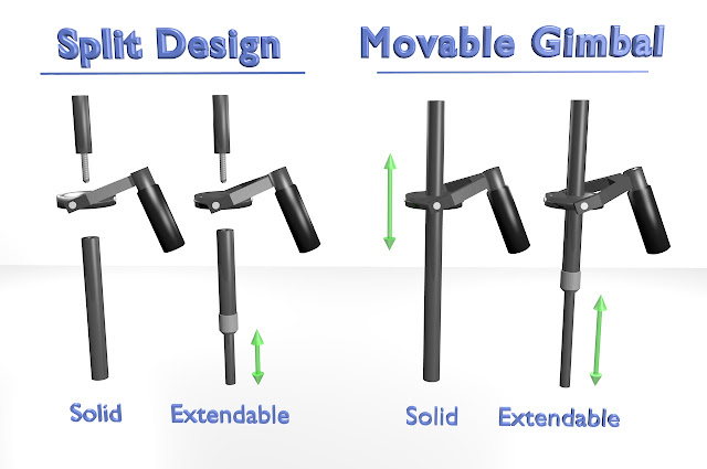 Camera Stabilizer Main Tube Design Options