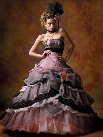 Black Bridesmaid Dress on Bridal Fashion  Pink And Black Wedding Dress