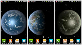 Earth HD freeedition Live wallpaper . Live wallpaper ini akan