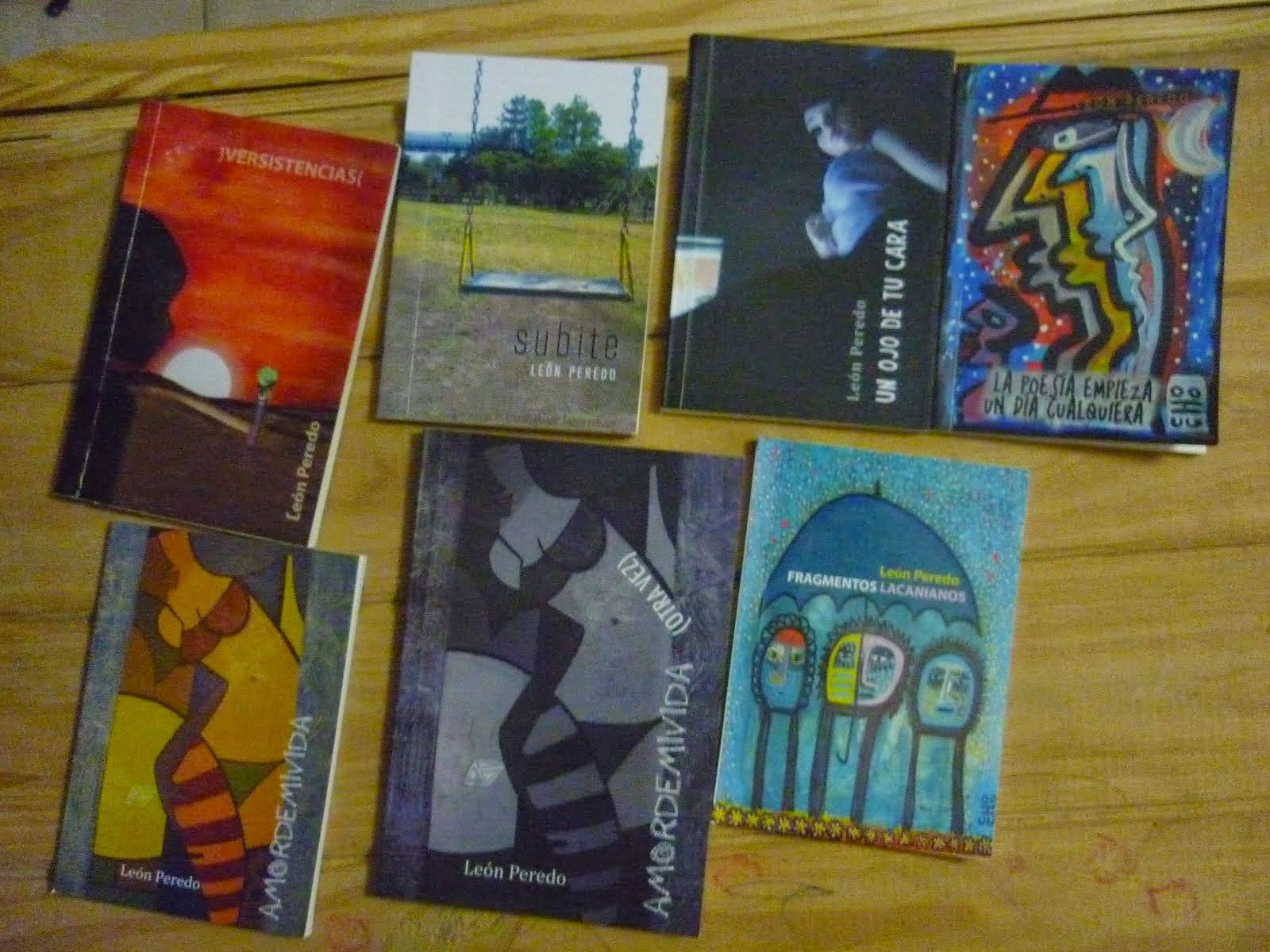 Mis libros de Poesía editados entre 2012 y 2014