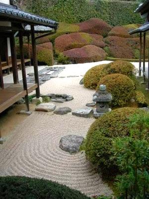 foto jardín templo zen japonés