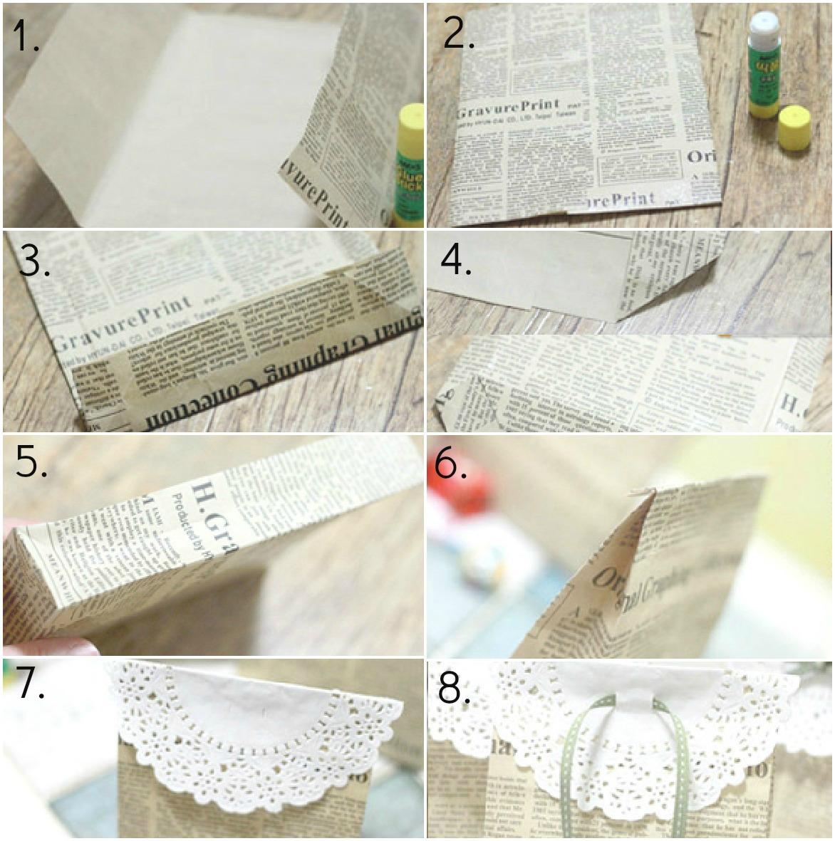 En casa de t a gretel diy bolsas de regalo con papel de - Papel partitura para manualidades ...