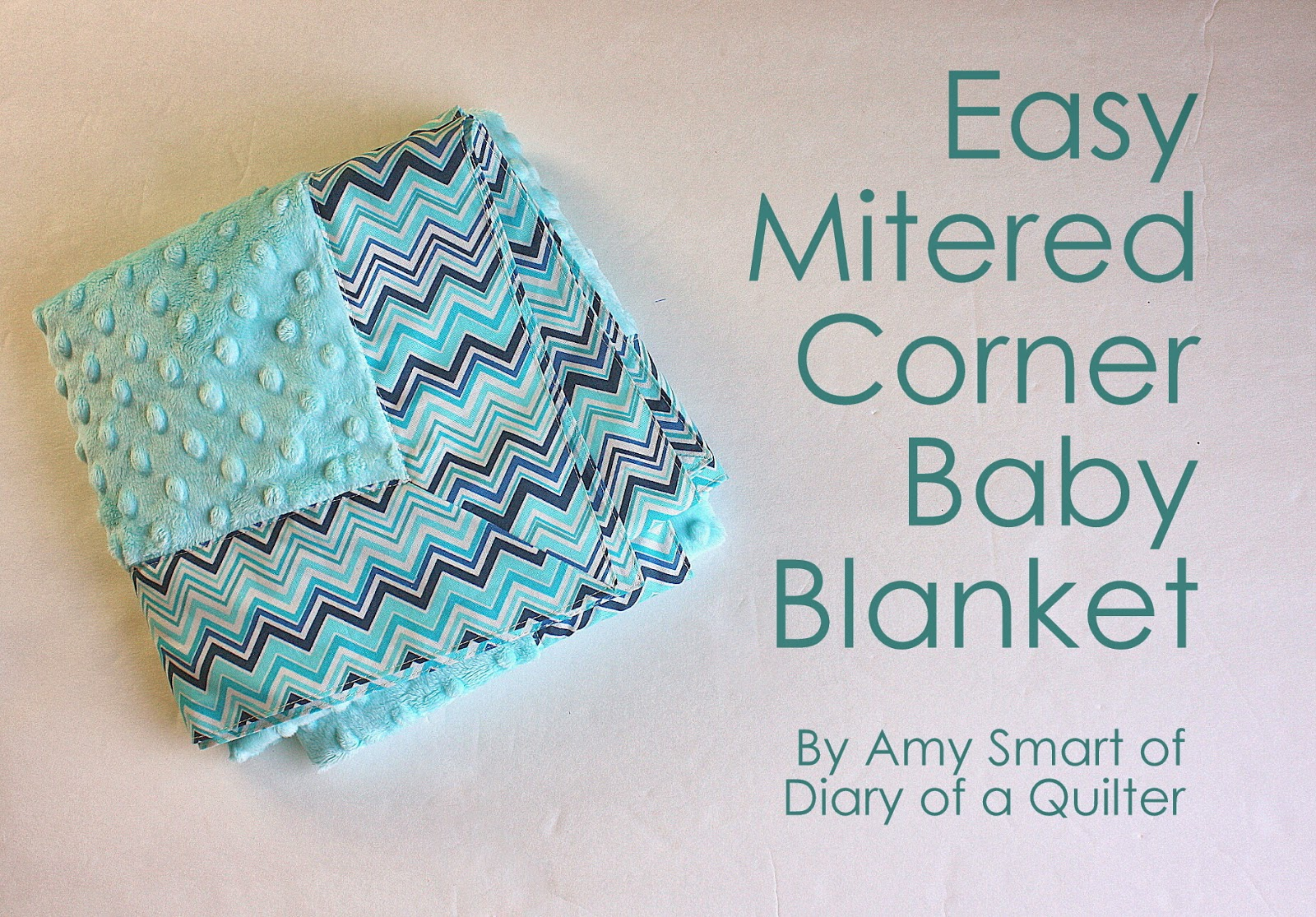 Baby Blanket tutorial with Cuddle Fabric - Diary of a Quilter - a ... : fabric for baby quilts - Adamdwight.com