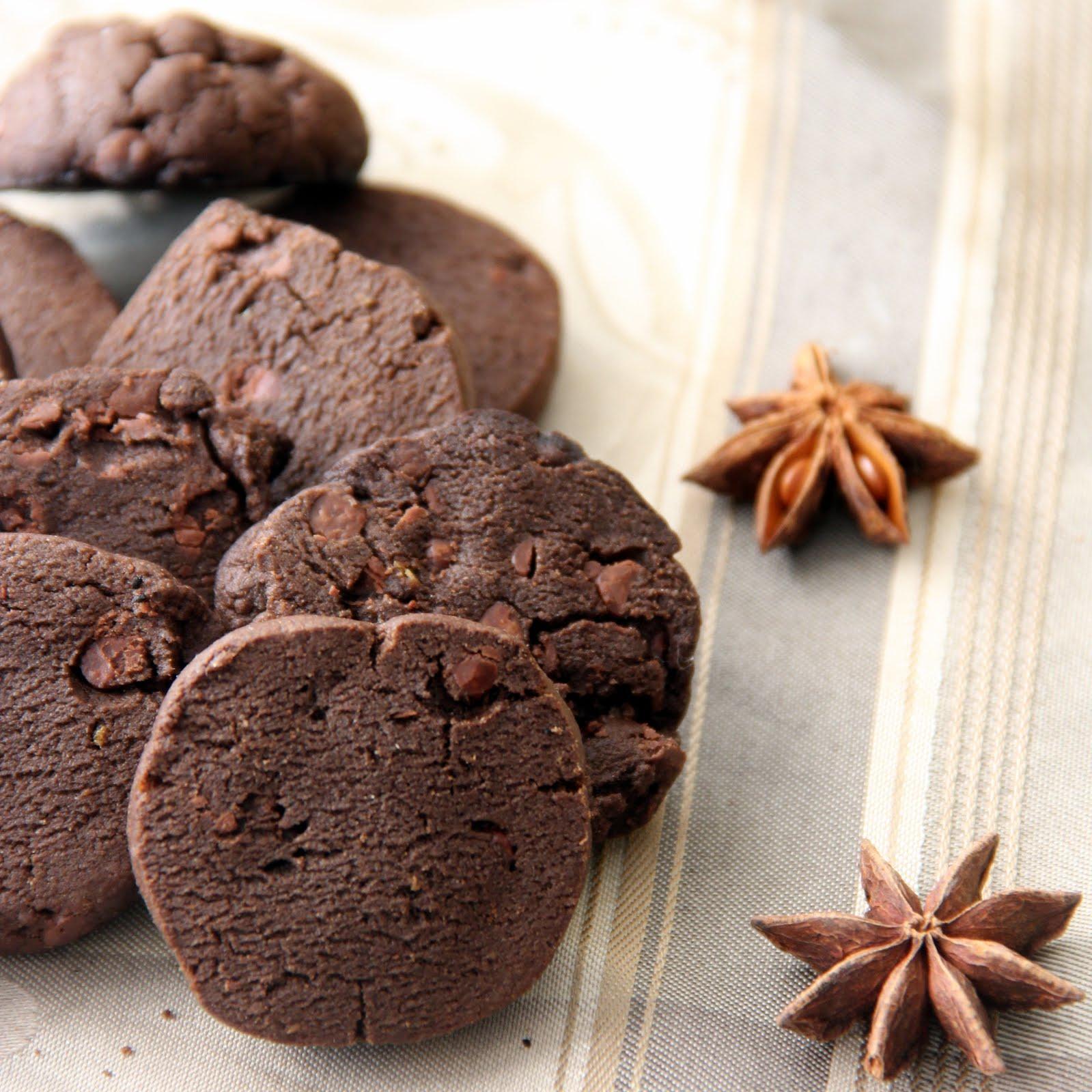 Chocolate anise orange cookies1
