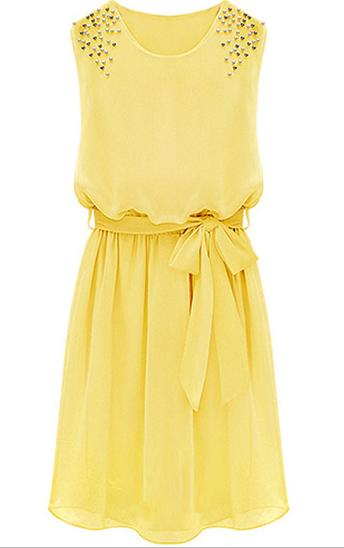 http://fr.sheinside.com/Yellow-Sleeveless-Bead-Belt-Chiffon-Sundress-p-140413-cat-1727.html