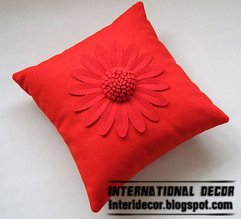 red floral cushion designs styles