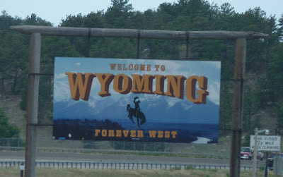 Wyoming welome sign