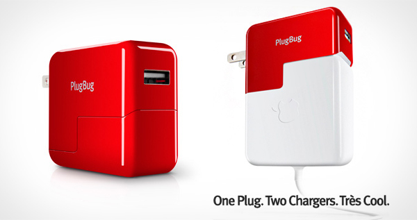 PlugBug Dual Charger for MacBook and iPad, iPhone, or iPod