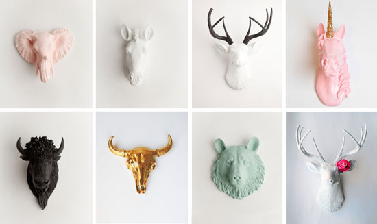 Blog de mbar muebles decora tus paredes con cabezas de - Cabezas de animales decoracion ...