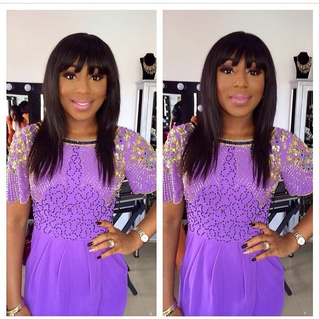 Dakore shines in an amazing purple dress