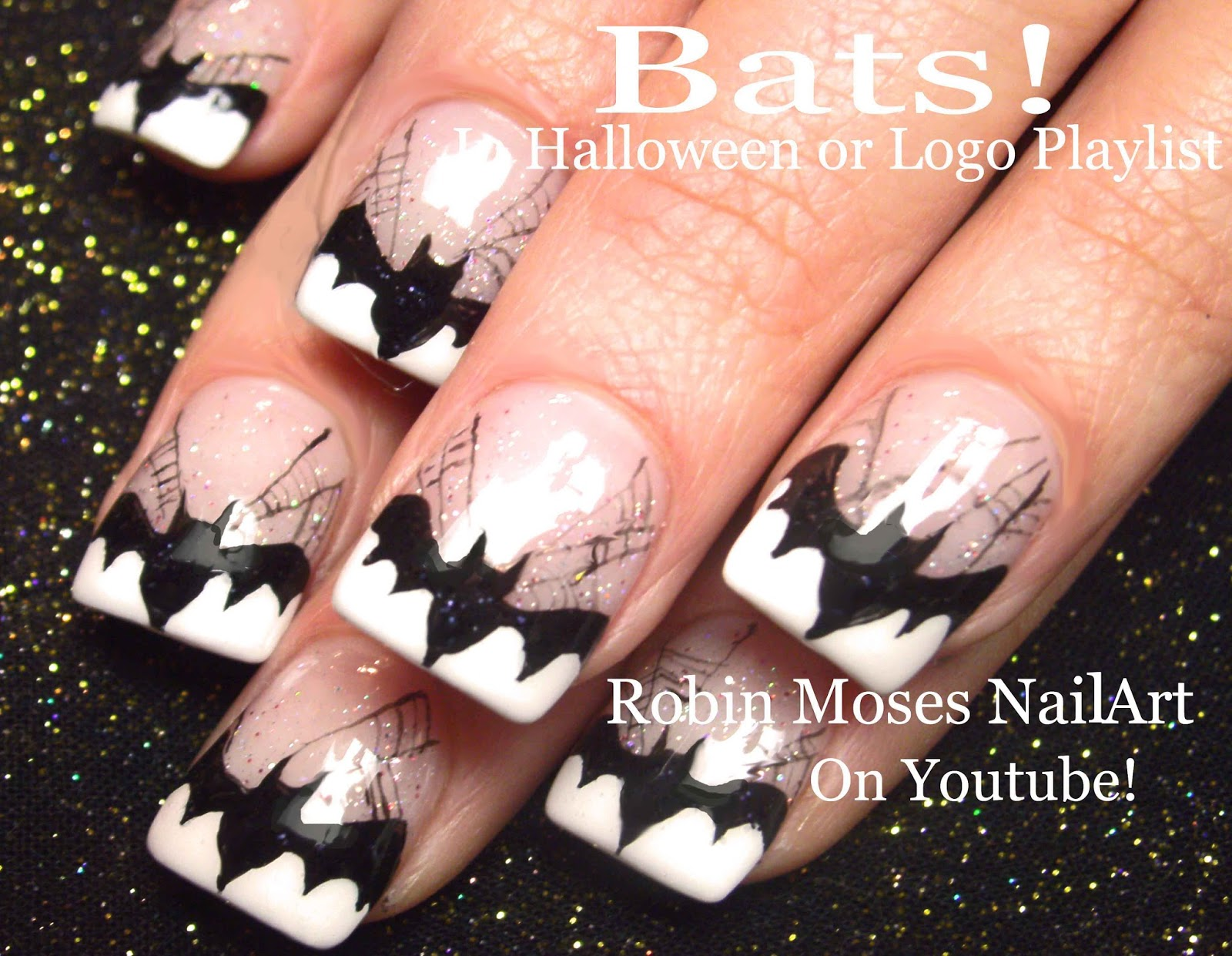 Robin moses nail art cute halloween nail art sexy witches on halloween nail art witch nails pumpkin and witches nail design tutorial prinsesfo Images