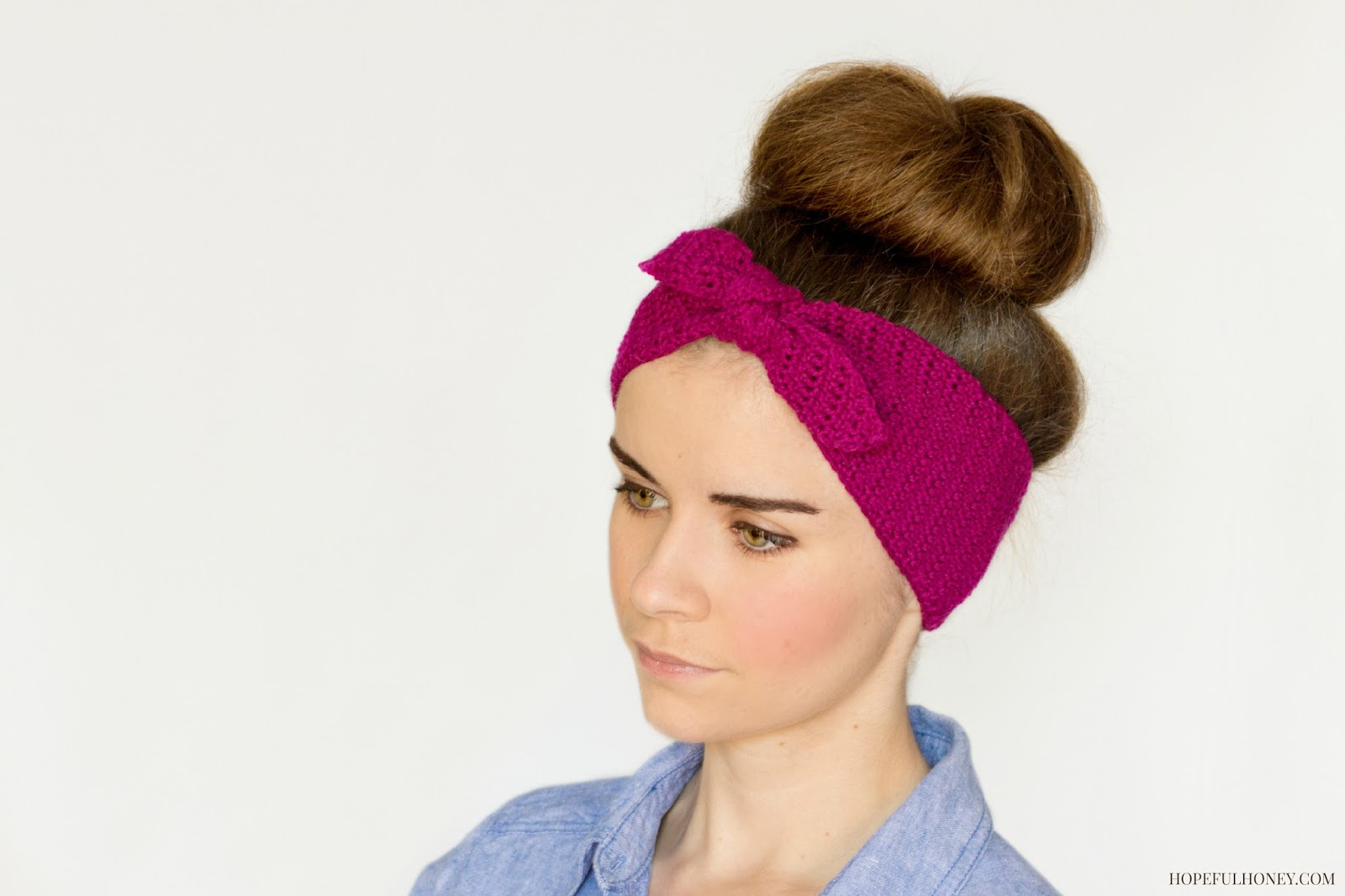 Free Crochet Pattern For Knotted Headband : Hopeful Honey Craft, Crochet, Create: Retro Pin-Up ...