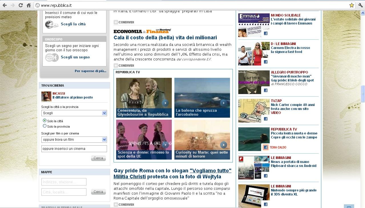 Giumbolando luglio 2012 for Home page repubblica