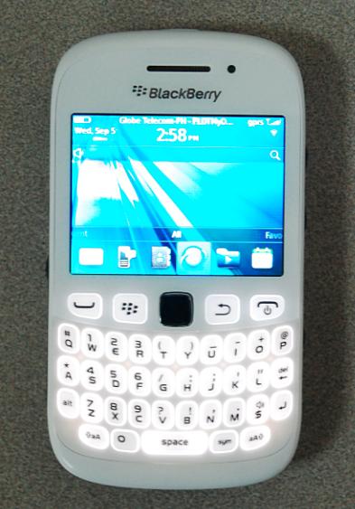 white blackberry curve 9320