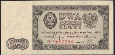 Polonia 2 Zlote 1948 P# 134