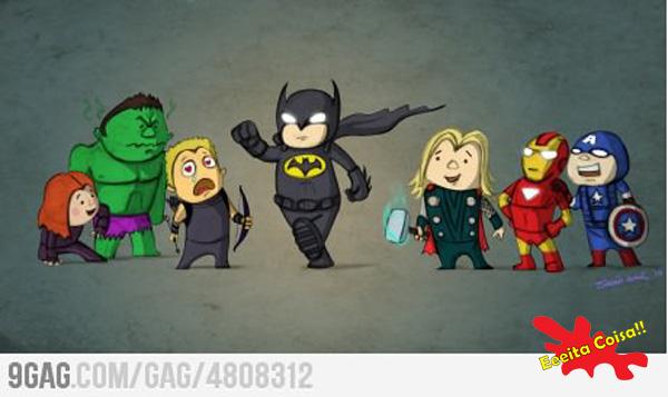 batman, vingadores, eeeita coisa