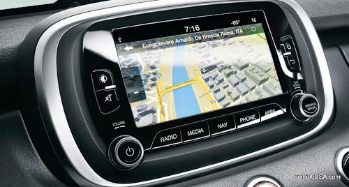 "Fiat 500X Uconnect Nav 6.5"""