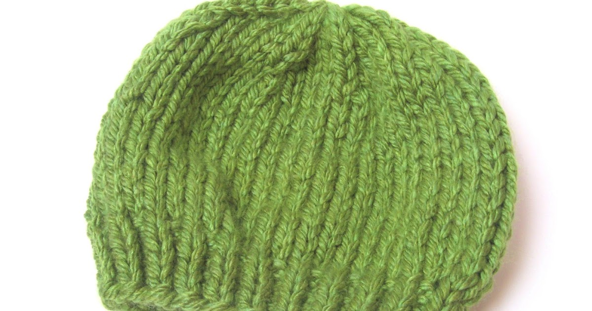 Double Knitting Stitches Per Inch : megan E sass handknits: Free Knitting Pattern: Easy Chunky Knit Beanie Hat