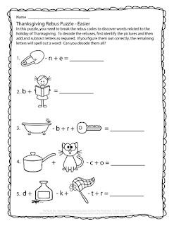 Thanksgiving Rebus Puzzles