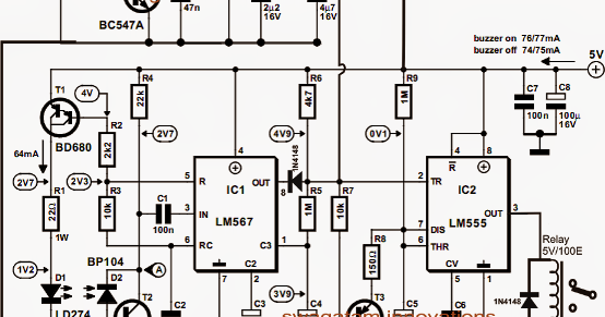 automatic infrared staircase lamp controller circuit