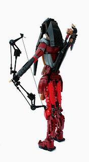 16459421775 d2a82fc8c8 z Lego Mongolian Cyberpunk compound bow archer
