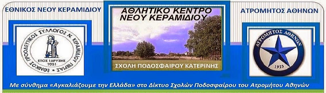 ΣΧΟΛΗ ΠΟΔΟΣΦΑΙΡΟΥ ΚΑΤΕΡΙΝΗΣ