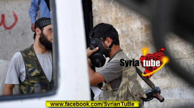 Syrians: NATO backed Militants Seen Donning Gas Masks FSA NBC Troops Aleppo July 27 2012