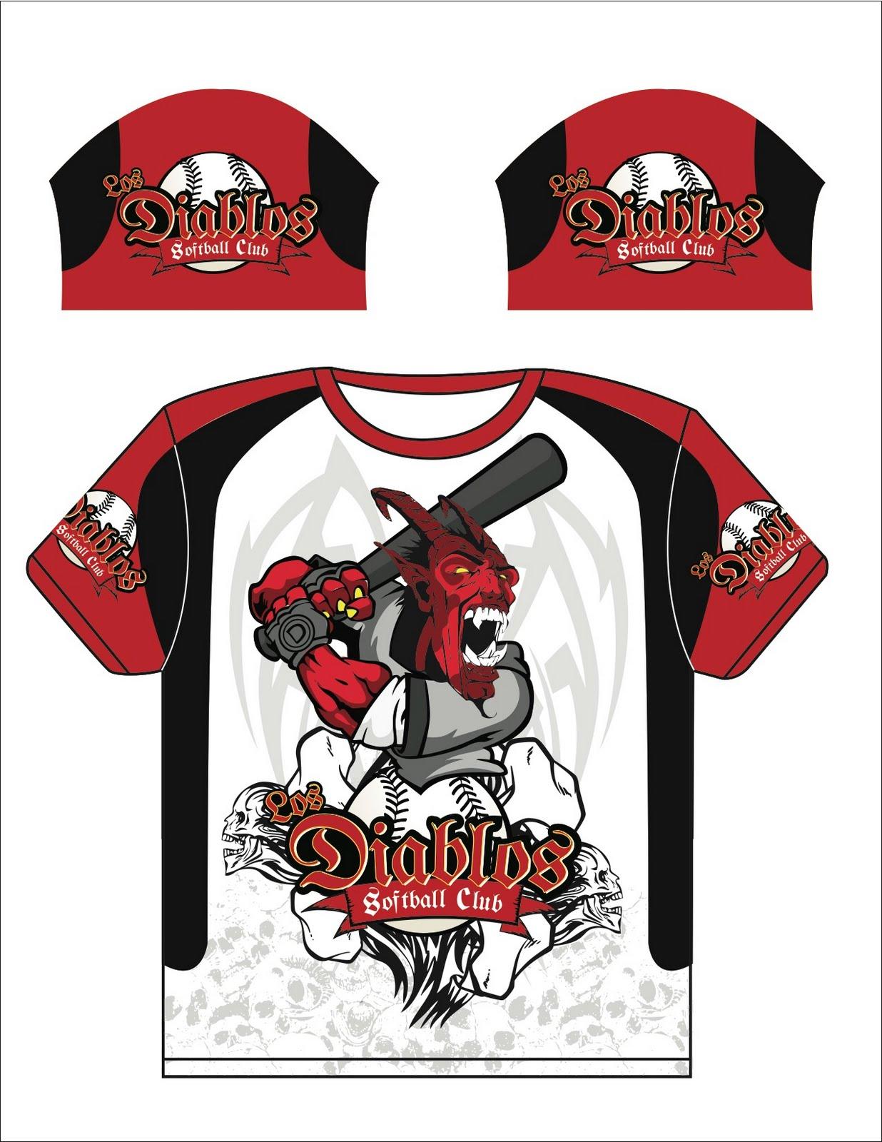 softball team logo designs los diablos softball jersey