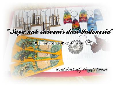 Saya nak souvenir dari Indonesia GA