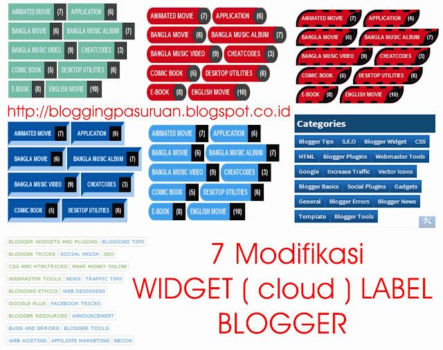 Cara Modifikasi Widget LABEL ( cloud ) Responsive Blogger