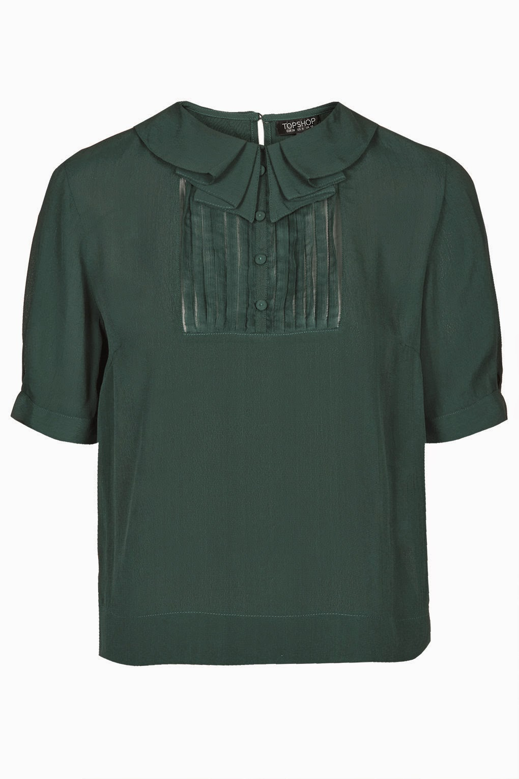 bottle green blouse