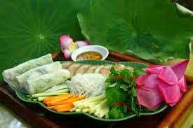 Vegetarian fresh spring roll - Nem cuốn chay