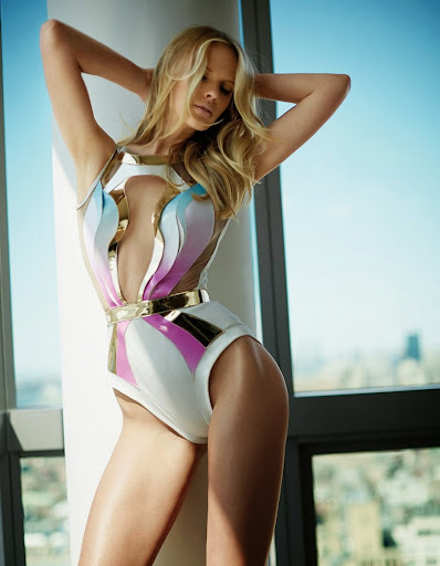 Anne Vyalitsyna hot poses in sexy bikini for FHM China