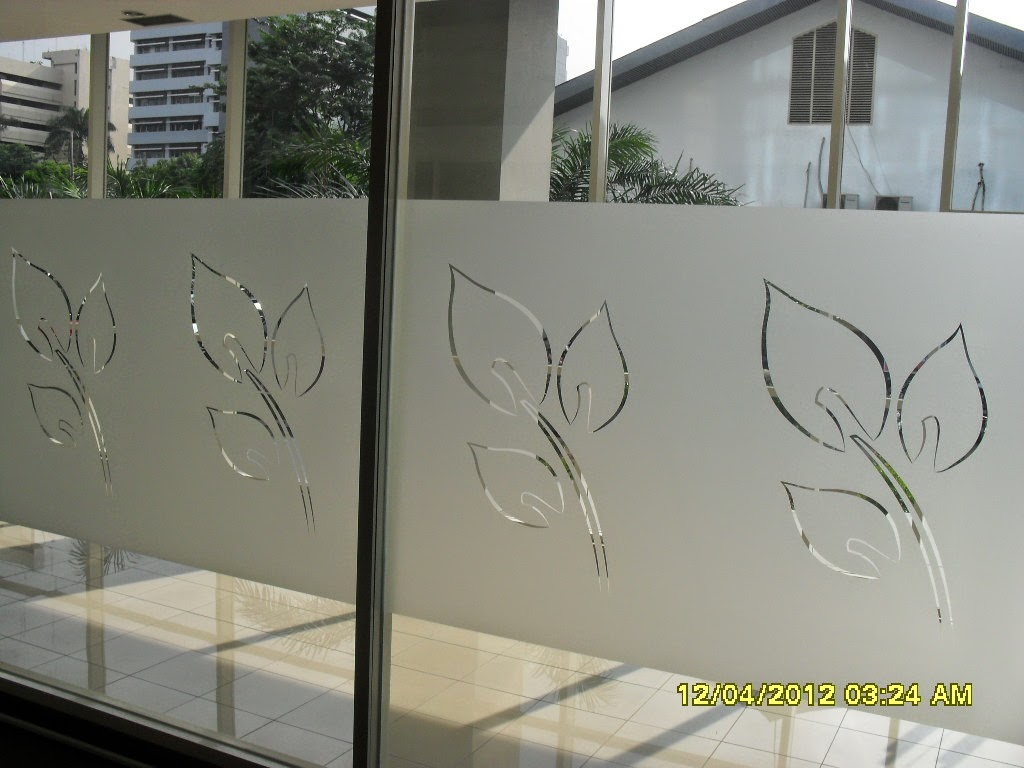 Jual Cutting Sticker Sandblast Kaca