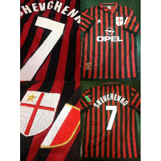 gambar desain terbaru jersey retro Jersey retro Ac Milan home Centenary tahun 2000 di enkosa sport toko online baju bola terpercaya di enkosa sport tanah abang