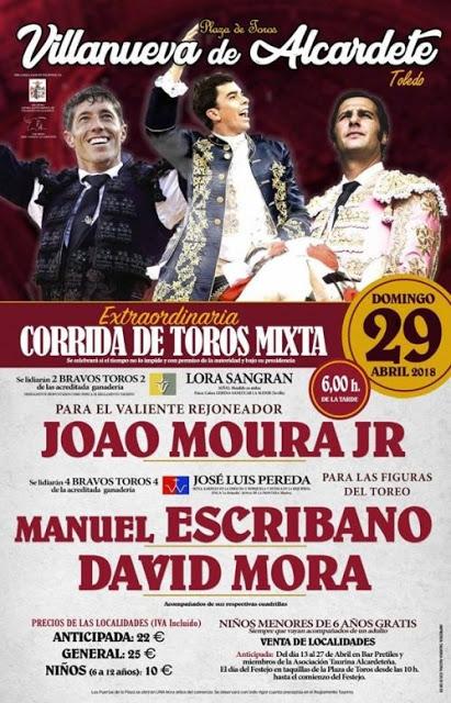 VILLANUEVA DE ALCARDETE (ESPAÑA) 29-04-2018. CORRIDA DE TOROS MIXTA.