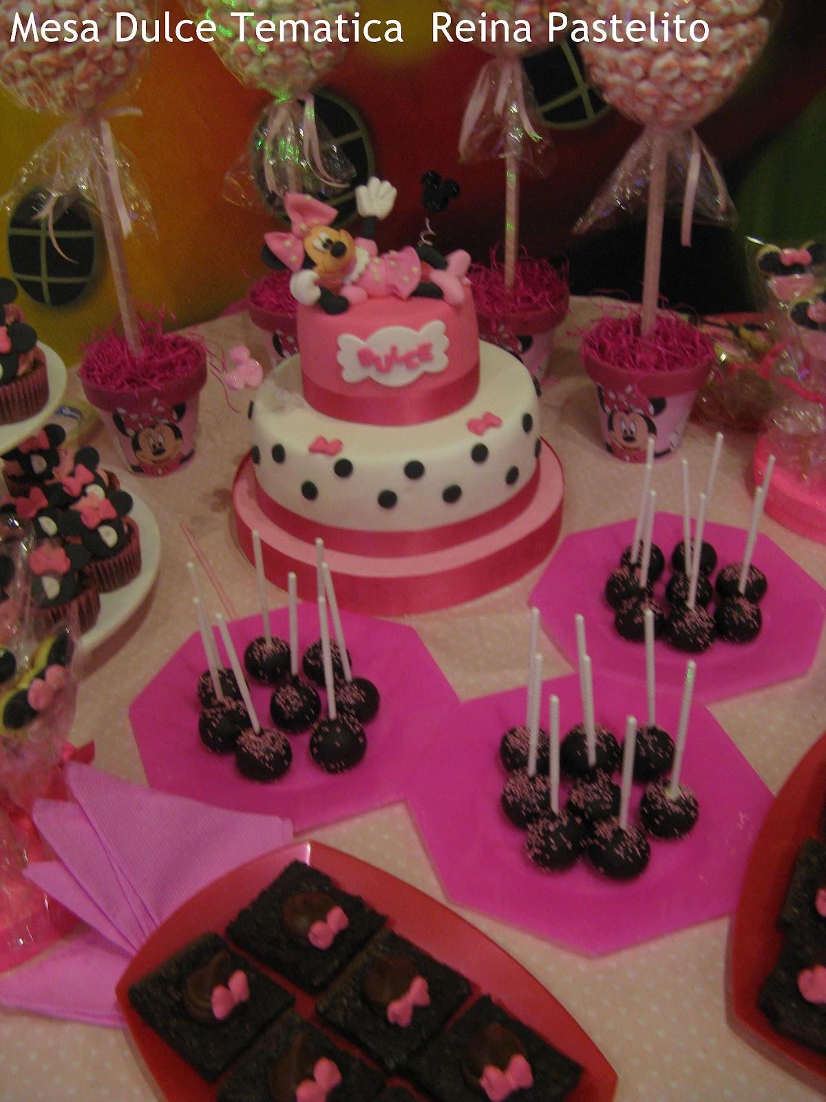 Mesa dulce tematica Minnie Mouse,