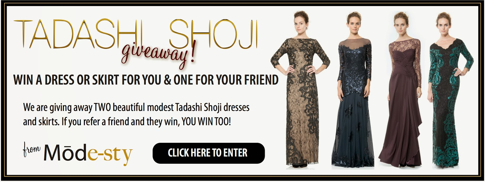 win long sleeve evening gown modest formal wear designer dress by Tadashi Shoji hijab tznius fashion style giveaway