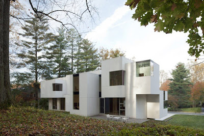 white house -  modern architecture