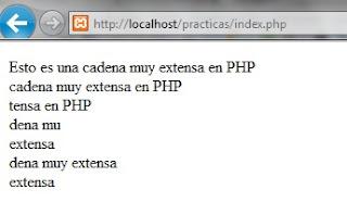Salida ejemplo PHP