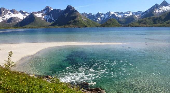 Playas en las Islas Lofoten, en Noruega