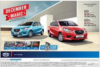 Amazing december magic offers discounts with Datsun Go and Go+
