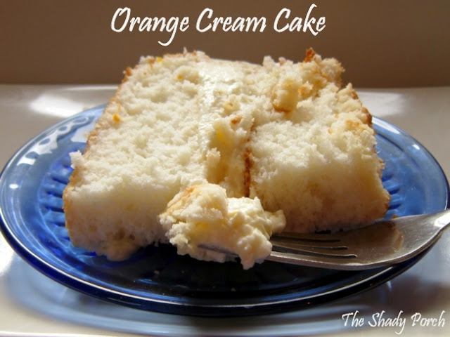 a slice of Orange Cream Cake  #cake #creamcake #dessert #orange #lemon #b